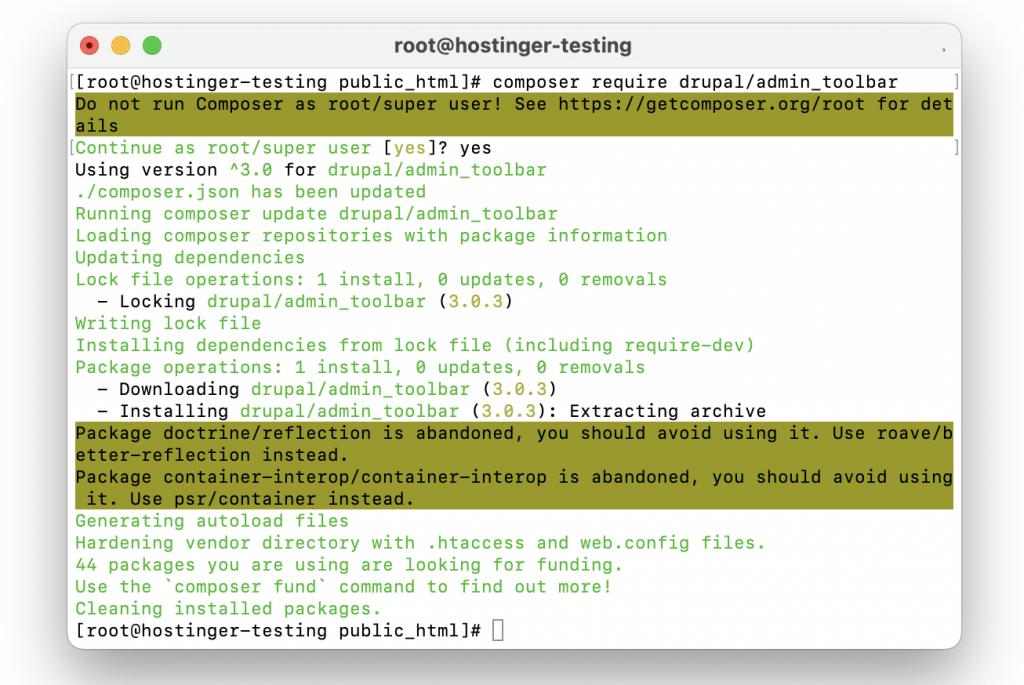 Download a module using Drush.