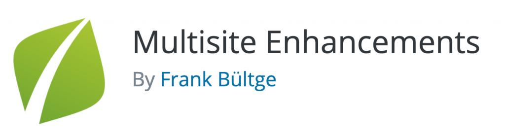 Multisite Enhancements plugin