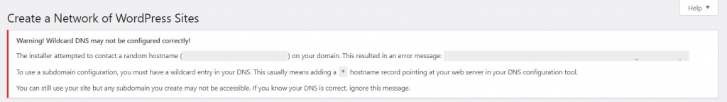 Warning about creating a network of subdomains.
