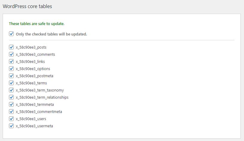 Updating URLs on databases